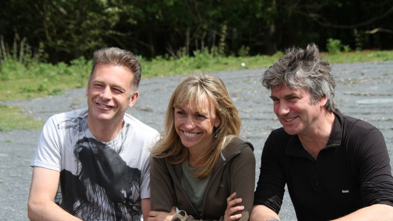 Chris Packham, Michaela Strachan and Martin Hughes-Games on Springwatch in 2014. Pic: Jo Garbutt