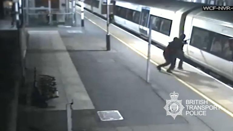 Two teenagers have been jailed for a total of 21 years after stabbing a man on a train.