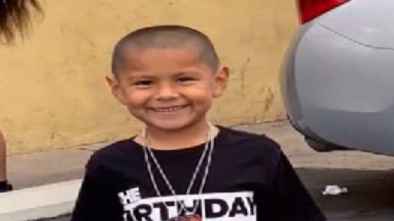 Six-year-old Steven Romero is among those killed in the shooting. Pic: NBC Bay Area