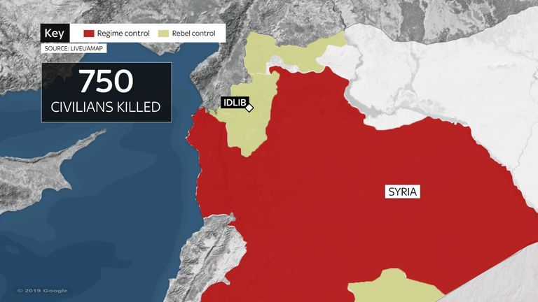 Since a major offensive was launched three months ago, 750 civilians have been killed