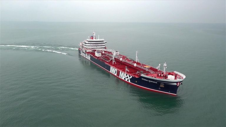 The Stena Impero was reportedly seized by Iranian authorities