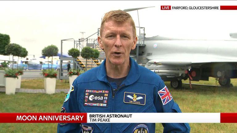 Major Tim Peake says Europeans will land on the moon