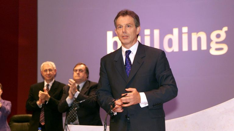 Tony Blair with John Prescott and Lord Triesman