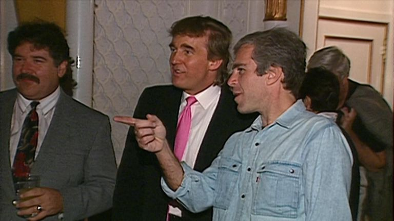Archive footage shows Trump and Epstein partying with women in 1992