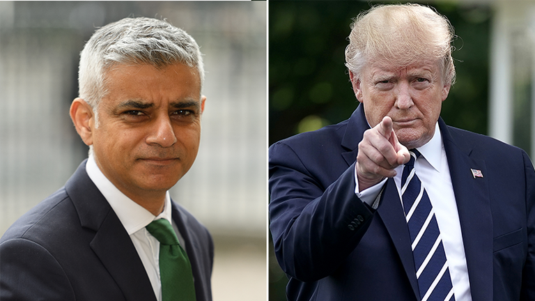 Donald Trump has used his Twitter to renew his attack on Sadiq Khan