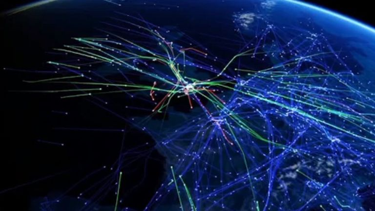UK air traffic controllers handled a record 8,863 aircraft in a day earlier in July. Pic: Nats