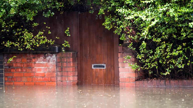 Properties have also been left at risk by the flooding