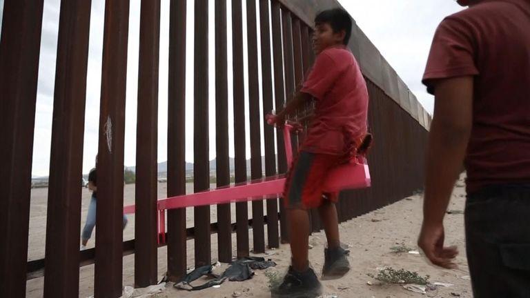 us mexico border seesaws