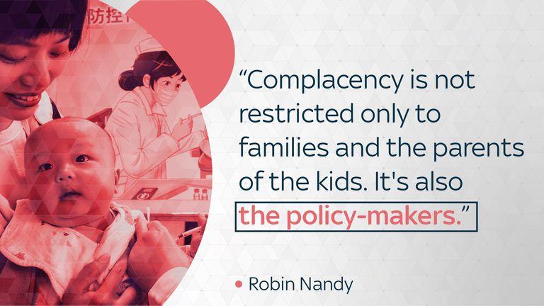 Robin Nandy, Principal Adviser and Chief of Immunization for UNICEF