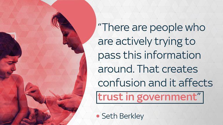 Seth Berkley, CEO of vaccine alliance GAVI