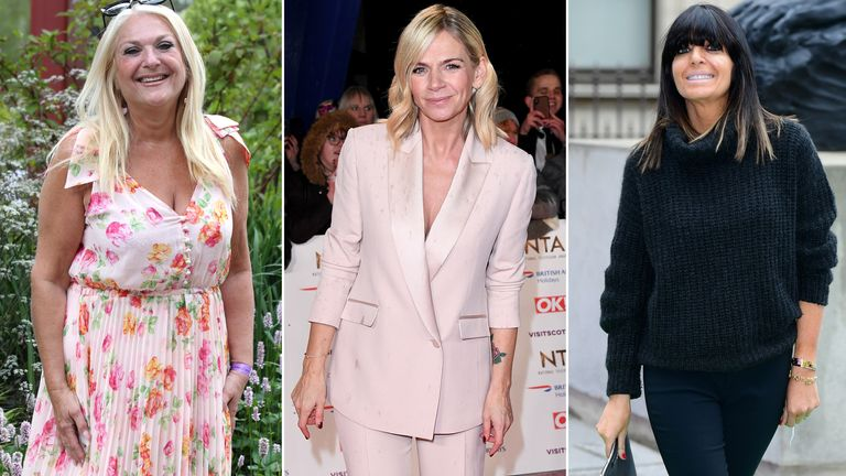 Vanessa Feltz, Zoe Ball and Claudia Winkleman