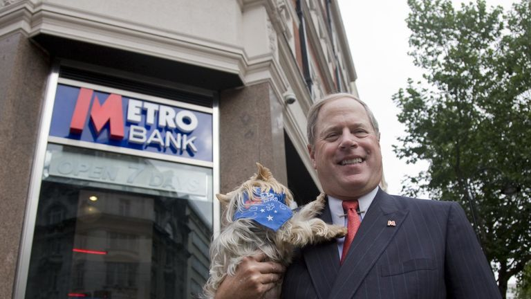 Metro Bank founder Vernon Hill formerly established Commerce Bank in the United States in the 1970s.