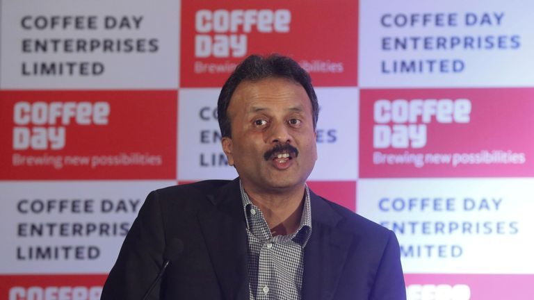 VG Siddhartha's body was discovered floating in a river