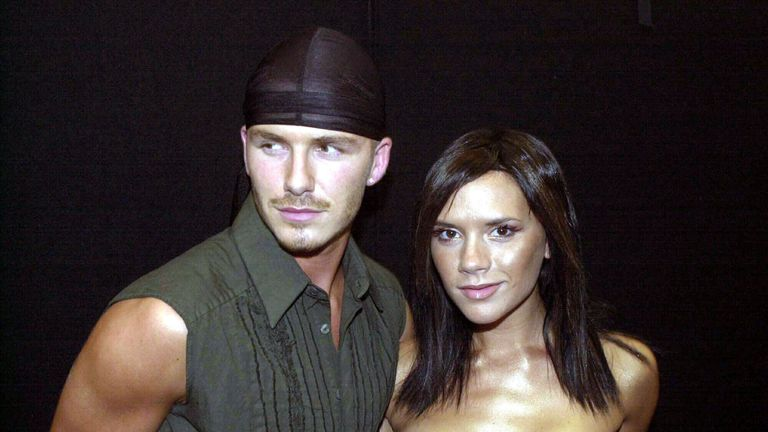 David Beckham and Victoria Beckham at Party In The Park at Hyde Park in London, United Kingdom. (Photo by Anwar Hussein/WireImage)
