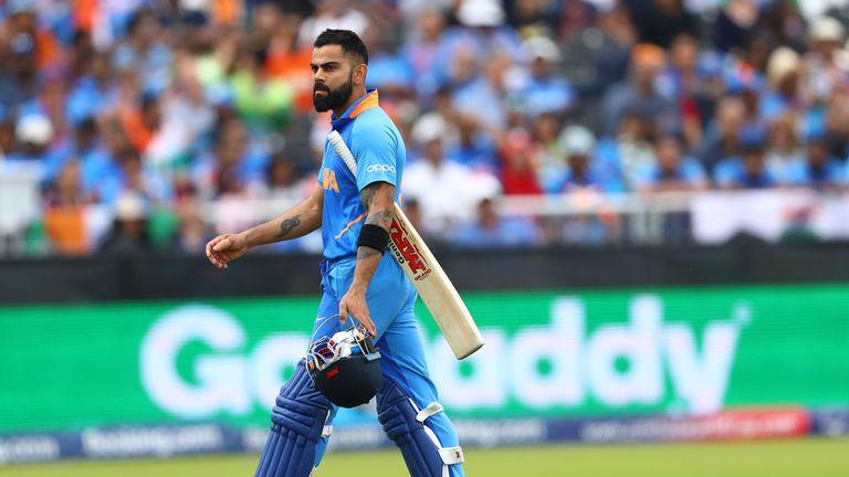 Virat Kohli is dismissed for 1