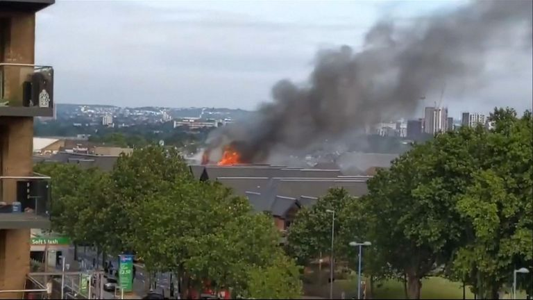 More than 150 firefighters with 25 fire engines were called to tackle a blaze at The Mall shopping centre in Walthamstow, northeast London