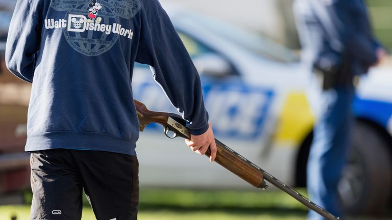 CHRISTCHURCH, NEW ZEALAND - JULY 13: General view as gun owners hand in their firearms at Riccarton Racecourse on July 13, 2019 in Christchurch, New Zealand. It is the first firearms collection event to be held in New Zealand following changes to gun laws, providing firearms owners the initial opportunity of many to hand-in prohibited firearms for buy-back and amnesty