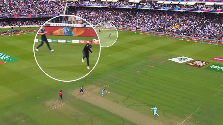 England's batsmen clearly had not crossed after the ball had been thrown, meaning the umpires should have awarded five runs instead of six