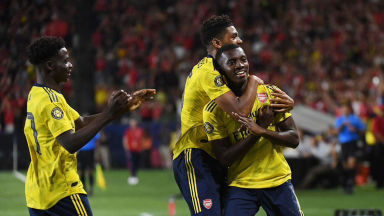 Highlights from Arsenal's 2-1 win over Bayern Munich