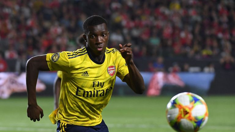 Eddie Nketiah will make his debut in Leeds' Carabao Cup match at Salford following his loan move from Arsenal, head coach Marcelo Bielsa confirmed