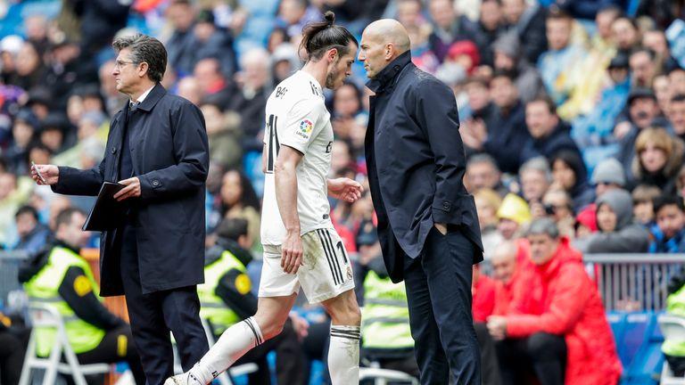 Gareth Bale and Zinedine Zidane