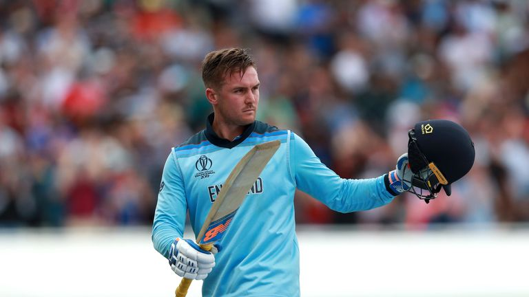 England hammered Australia by eight wickets to reach Sunday's World Cup final at Lord's.