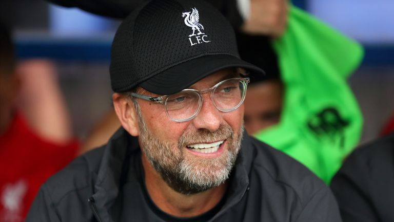BIRKENHEAD, ENGLAND - JULY 11: Liverpool manager \ head coach Jurgen Klopp during the Pre-Season Friendly match between Tranmere Rovers and Liverpool at Prenton Park on July 11, 2019 in Birkenhead, England. (Photo by James Williamson - AMA/Getty Images)