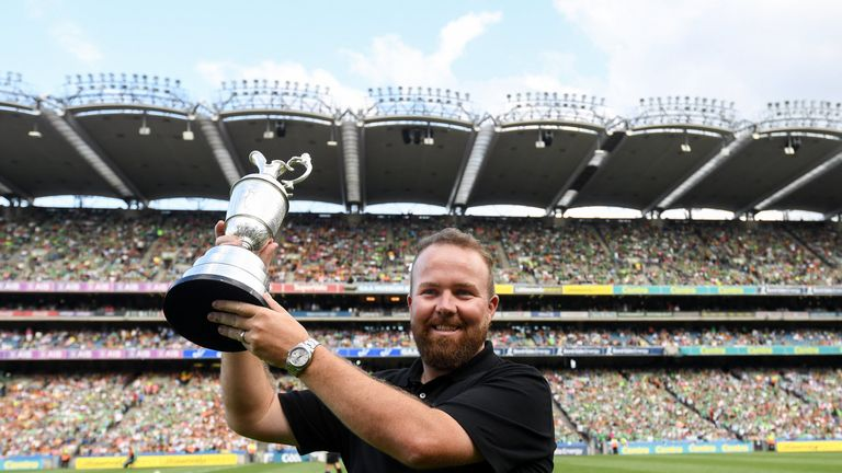 Open champion Shane Lowry received a warm reception at Croke Park as he paraded the Claret Jub prior to Kilkenny's All-Ireland hurling semi-final win over Limerick.