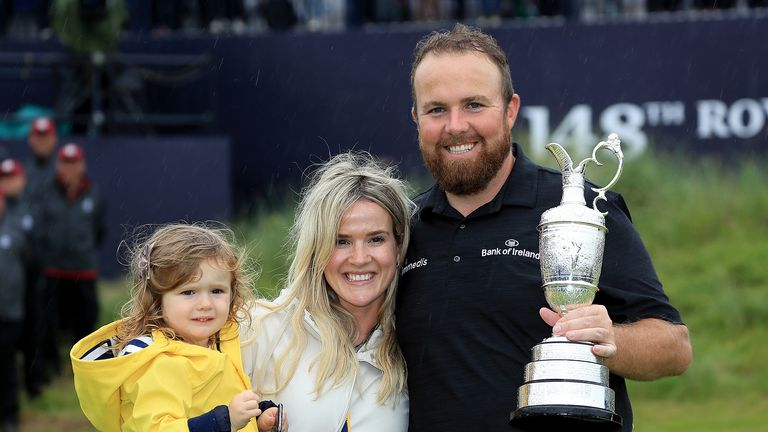 It was an emotional moment for Lowry as he lifted the Claret Jug and dedicated the victory to his team and family