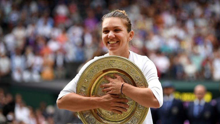 Simona Halep defeated Serena Williams in the 2019 Wimbledon women's singles final