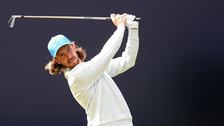 England's Tommy Fleetwood tees off the 1st during day three of The Open Championship 2019 at Royal Portrush Golf Club.