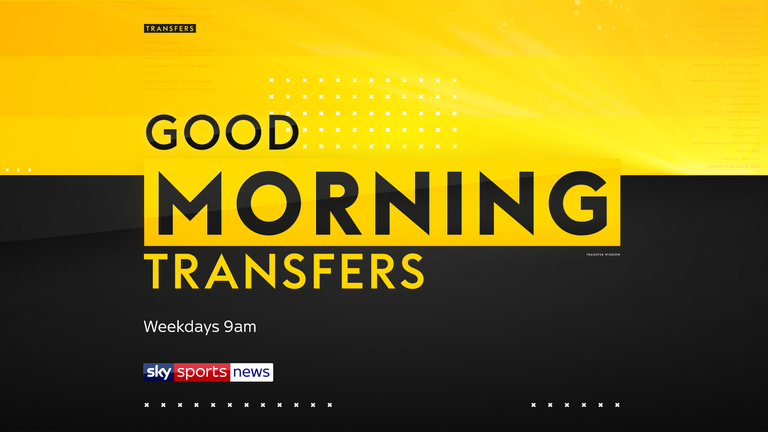 The latest transfer news brought to you by Sky Sports News with three new transfer shows including 'Good Morning Transfers' which is live on weekdays at 9am