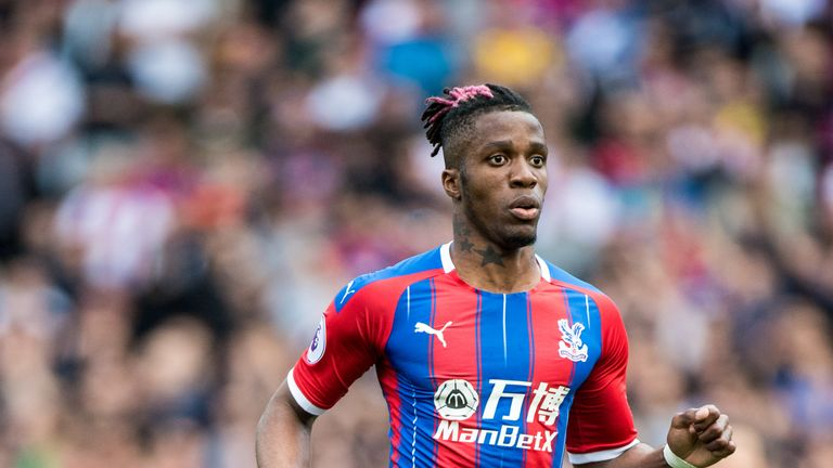 Crystal Palace manager Roy Hodgson says Arsenal are yet to make a bid 'anywhere near' their valuation of winger Wilfried Zaha