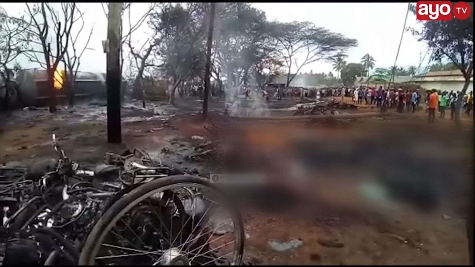 At least 62 people burned to death after fuel tanker explosion in Tanzania