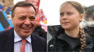 Arron Banks said his comment about the teenage climate activist was 'a joke'