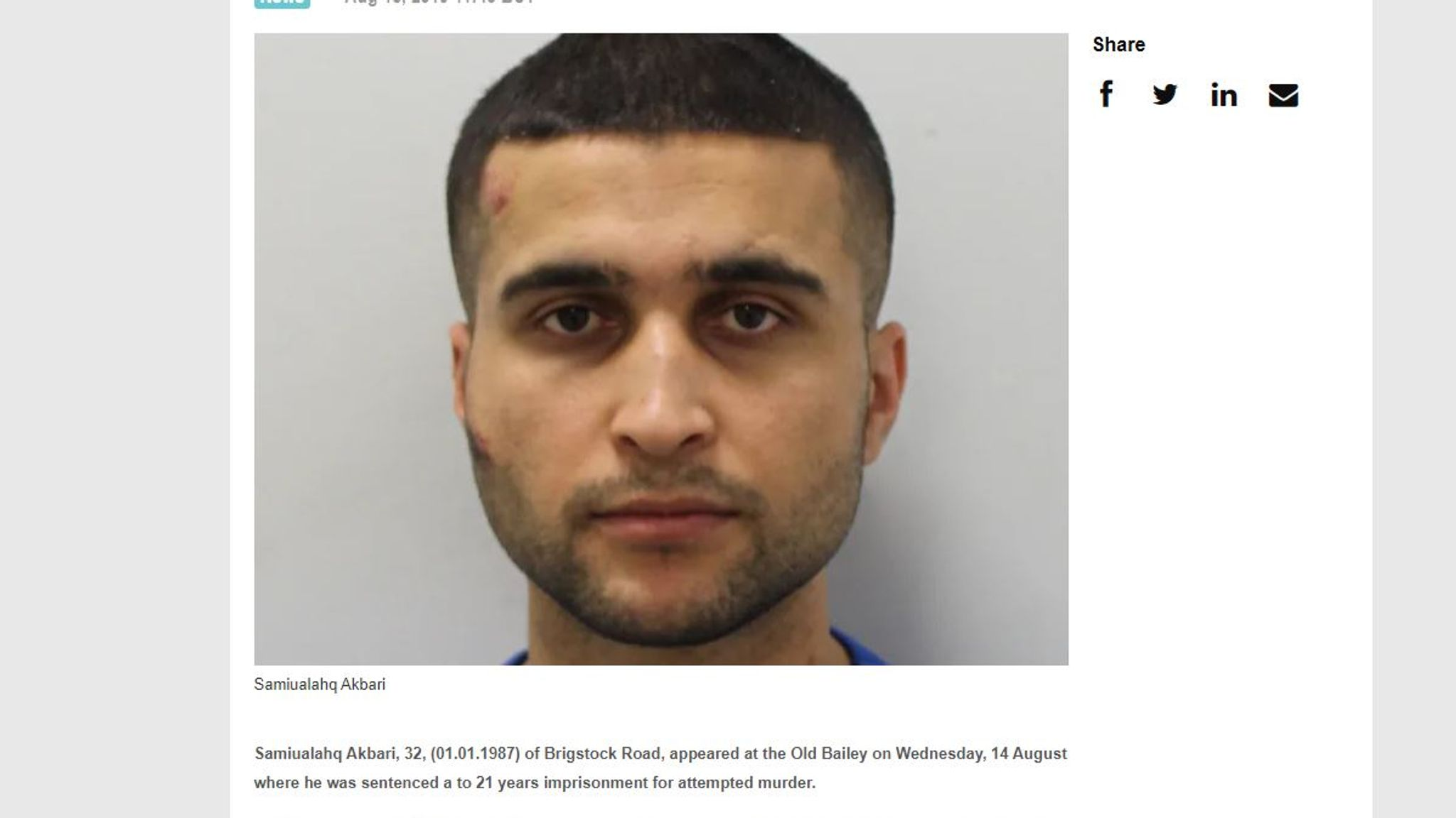 Samiualahq Akbari: Knifeman jailed for 21 years over 'kill English people' rampage