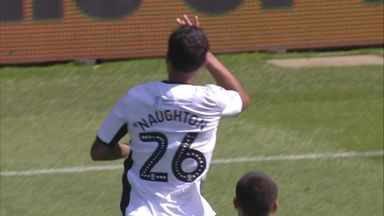 Naughton puts Swansea ahead