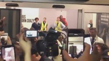 Lukaku welcomed by Inter fans