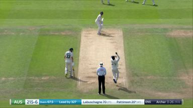 Pattinson caught by Root