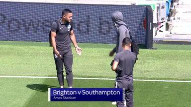 Brighton players bicker over kick