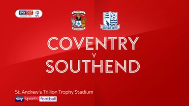 Coventry 1-0 Southend
