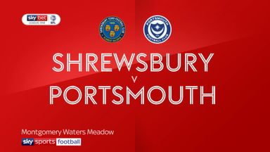 Shrewsbury 1-0 Portsmouth