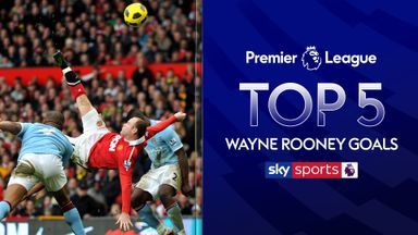 Rooney's top five Premier League goals