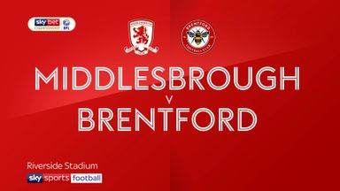 Middlesbrough 0-1 Brentford