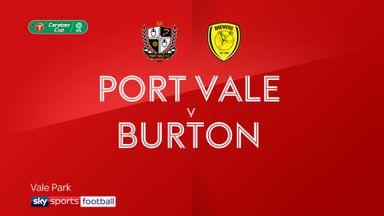 Port Vale 1-2 Burton