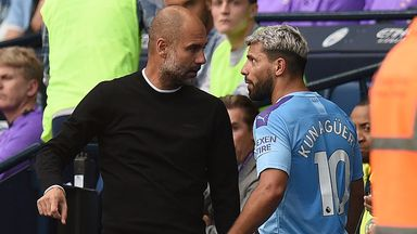 Pep and Aguero's touchline argument