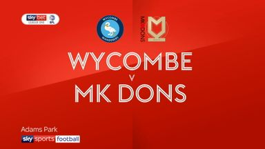 Wycombe 3-2 MK Dons