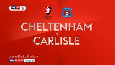 Cheltenham 2-0 Carlisle