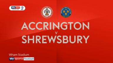 Accrington 2-3 Shrewsbury