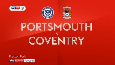 Portsmouth 3-3 Coventry